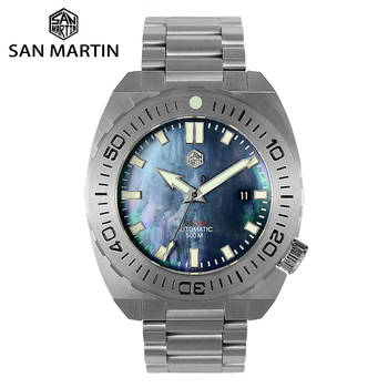 San Martin Diver Watch Men Mechanical Watches Automatic Sapphire Waterproof 500m Luminous Stainless Steel Limited Edition