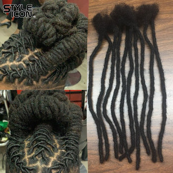 New Arrival 12-20inch Dreadlock Pure Handmade Crochet Braiding Dreadlocks Hair Extension Hip Hop Pure Color Human Hair Extension