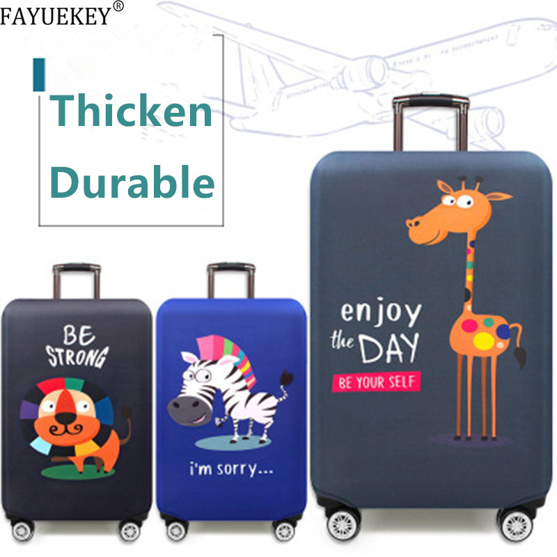 Animal Print Flamingos Luggage Protective Covers Travel Accessories Thicken Elastic Anti-dust Siutcase Cover Trolley Case Cover