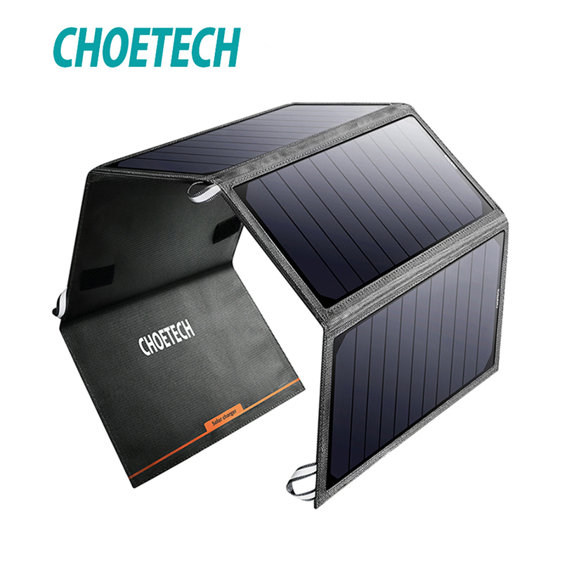 CHOETECH Solar folding 24W 5V 2 4A Cell Charger Power Panel Portable Solar Phone Charger for