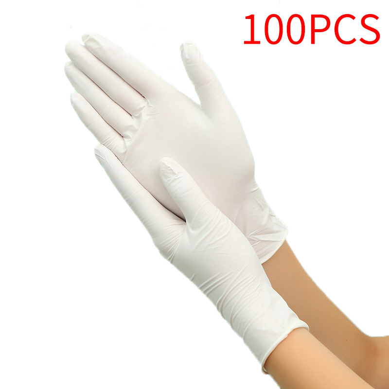 100Pcs 3 Colors Disposable Gloves Latex Universal Kitchen/Dishwashing/Medical /Work/Rubber/Garden Gloves For Left And Right Hand