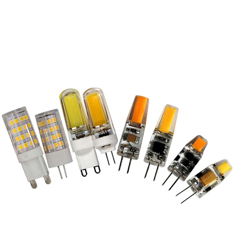 led lamp <font><b>G4</b></font> cob <font><b>3W</b></font> 6W <font><b>12v</b></font> warm white G9 110v 220V 5W 7W light bulb Branch chandelier replacing small light bulb for home image