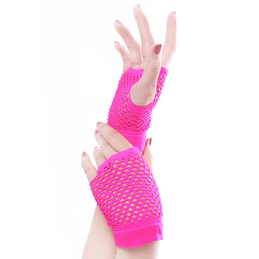 Women Fishnet Lace Mesh Thin Gloves Female Dance Costume Fingerless Evening Mittens Lady Long Sexy Gloves Rekawiczki Damskie