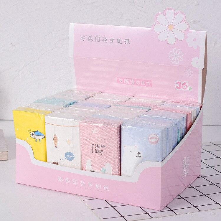 Fashion Printed Paper Towel Environmentally Friendly Virgin Fiber Handkerchief Paper Gift Box Kleenex Bag Handkerchief Paper 36