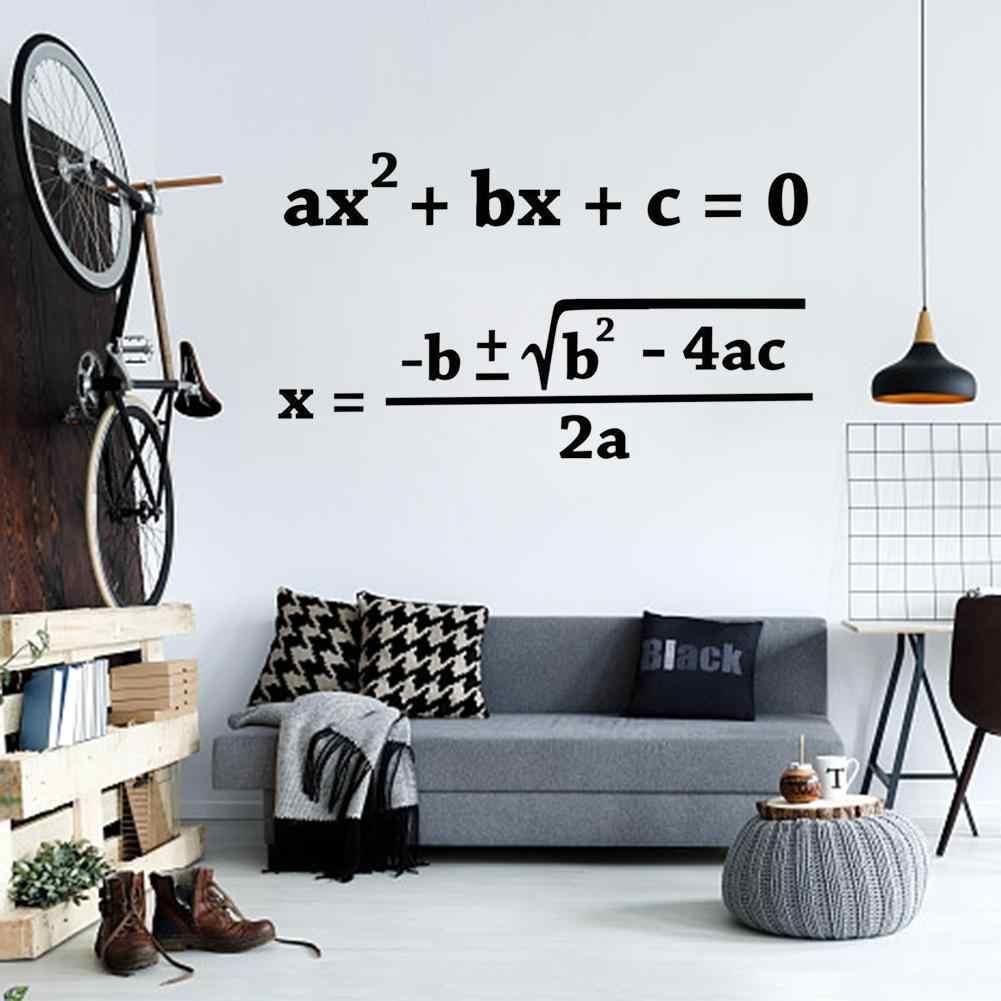 Acik Okul Kuadratik Formulu Duvar Sticker Matematik Vinil Duvar