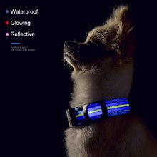 Waterproof LED Dog Collar Original Magnetic Charging Glowing Anti-Lost Pet Product For  Dogs Puppies Collars