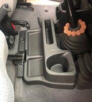 Acessórios abs caixa de armazenamento apoio braço bandeja inserir caixa console central para toyota land cruiser lc70 lc71 lc76 lc77 lc79 estilo do carro