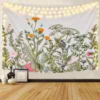 Flor folha cobertor tecido tapeçaria de parede tapeçaria da suspensão de parede parede tela tapiz pared parede tapete