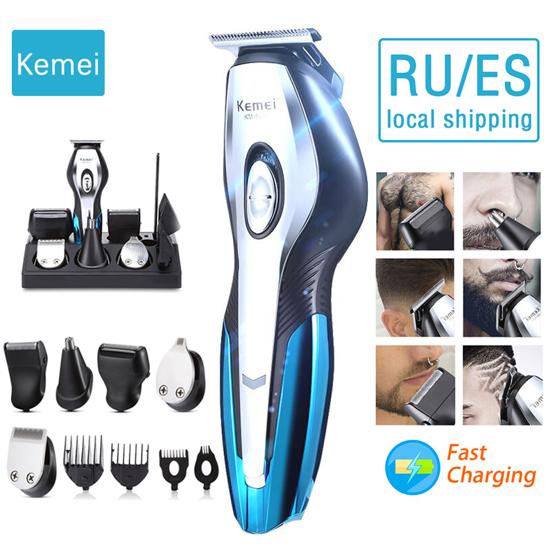 <font><b>Kemei</b></font> hair clipper hair trimmer men's beard razor 11 in 1 electric hair clipper male shaving machine nose trimmer 4 image