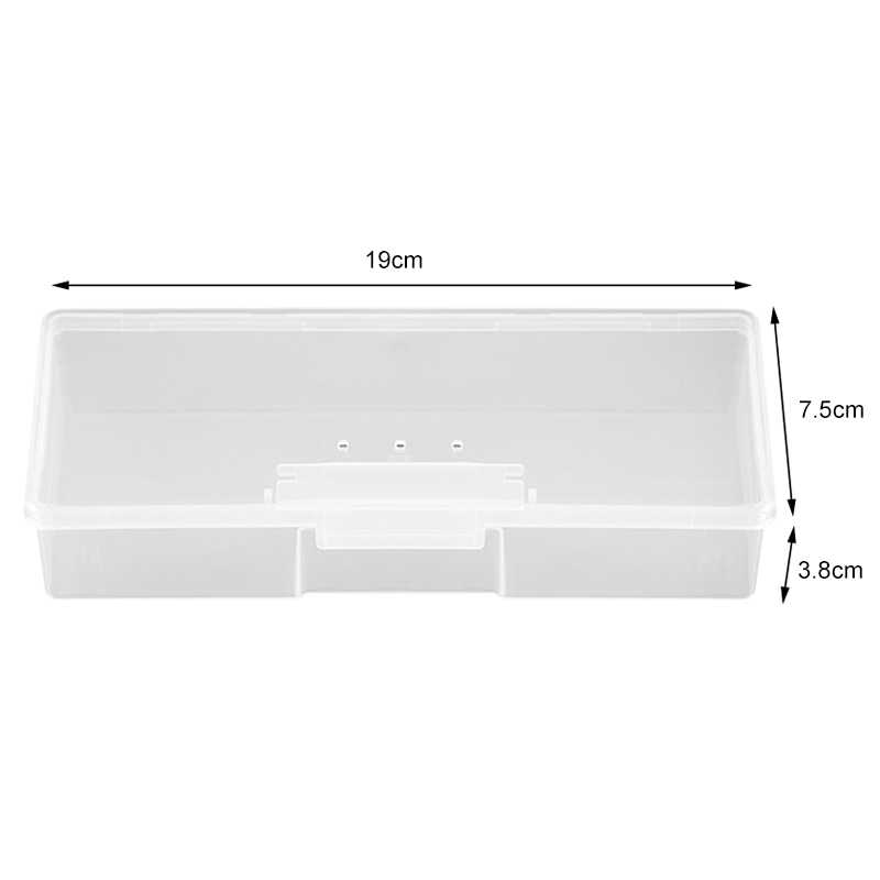 Plastik Kotak Penyimpanan Kecil Manicure Khusus Alat Nail Art Wadah Rumah Organizer Permata Sikat Pena Case Wadah Makeup Kotak