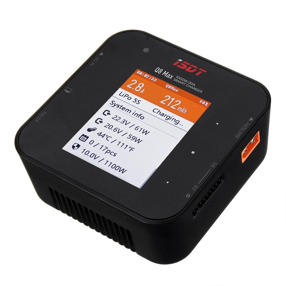 Обновление ISDT Q8 Max BattGo 1000 Вт 30A Высокая мощность Батарея баланс зарядное устройство Dis зарядное устройство для 1-8S Lilon LiPo LiHV NiMH Pb RC DIY игрушки