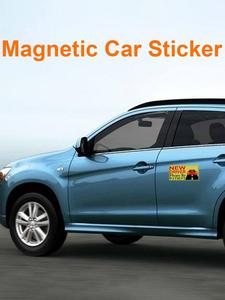 Image 4 - 2019 New Driver Sticker Reflective Magnetic Car Stickers Vehicle Sign Magnetic Bumper Stickers Car Sticker for New Driver