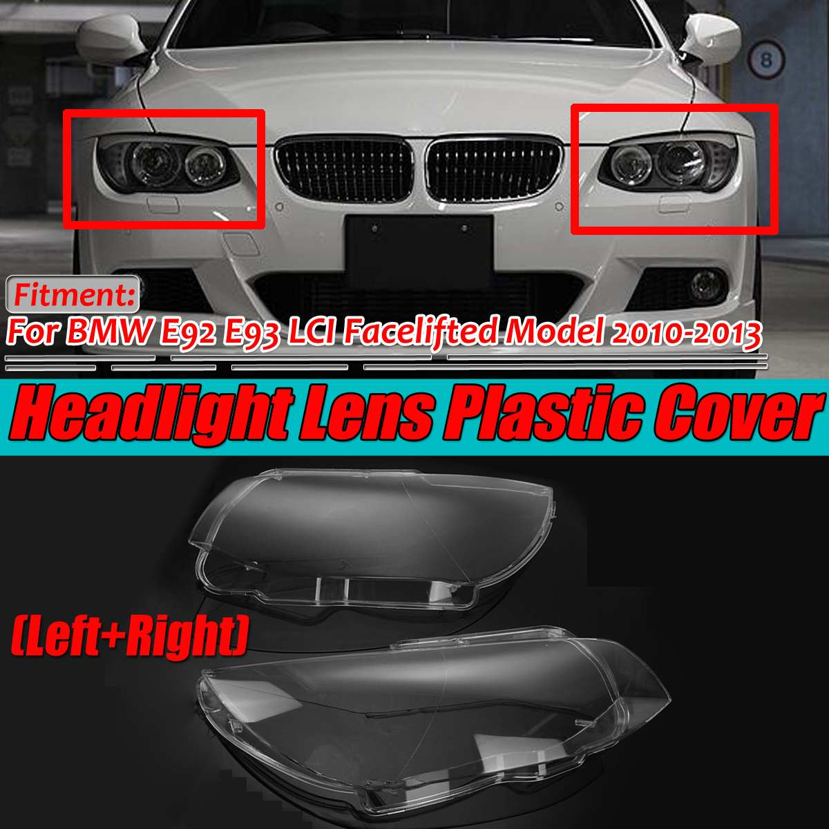 OEM BMW 5-series M-sport E60 E61 front bumper LEFT headlight washer cover cap