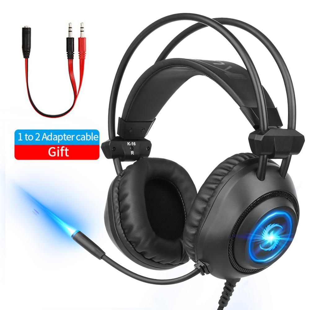 Professional LED Gamer Headset For PS4 Xbox One PC Mobile Phone Noise Cancelling Over Ear Gaming Headphones With Microphone Gift