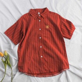 New Cotton Linen Summer Autumn Blouse 3