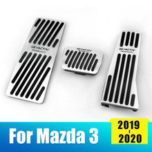 Aluminium Auto Voetsteun Pedaal Gaspedaal Rempedaal Clucth Pedaal Non Slip Cover Voor Mazda 3 Axela CX-30 2019 2020(China)