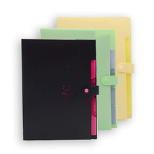 Цветной бумажный аккордеон папки для файлов 3 цветов расширяющийся файл пластиковый портативный Настольный органайзер для документов для школы и офиса 5