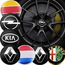 4 Uds 56mm coche tapacubos de centro de rueda pegatinas para Volkswagen VW CC T-ROC Golf 4 5 5 5 6 6 7 Sharan 7N Passat B5 B6 B7 Tiguan EOS línea R