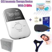 Прибор для лечения бессонницы, КЕС, забота о здоровье, массажер, без бокового эффекта, антистресс, тревога, мигрень, инструмент для лечения+ 3 подарка
