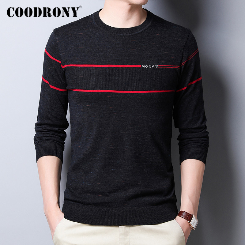 COODRONY Brand Sweater Men Spring Autumn Casual O-Neck Pullover Men Clothes Fashion Soft Knitwear Pull Homme Cotton Shirt C1031
