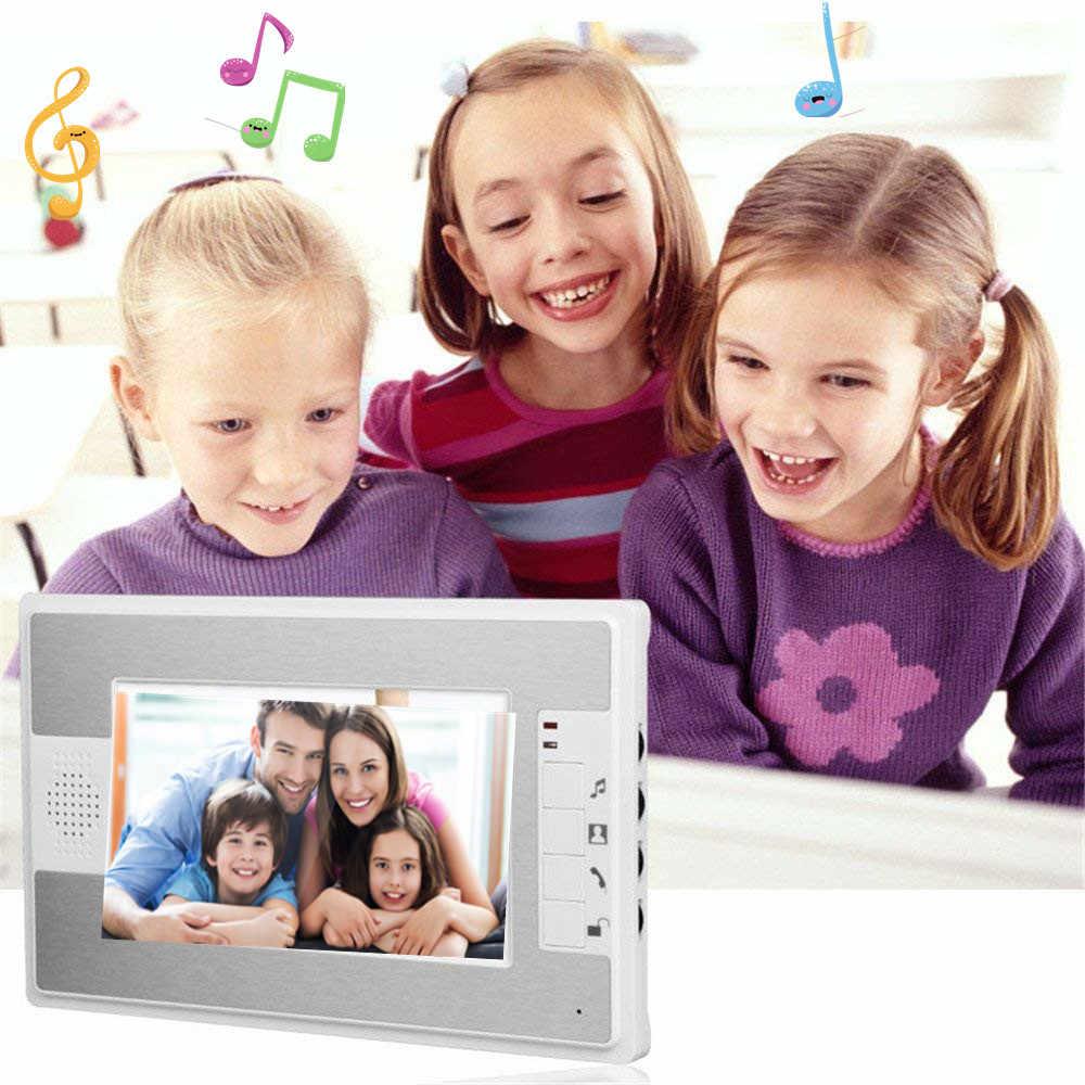 """7 """"Sistema de intercomunicador de vídeo timbre de visión nocturna IR 700tvl cámara de puerta impermeable desbloqueo para casa apartamento video puerta teléfono"""