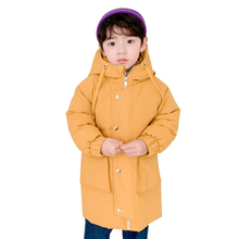 New Children Winter Jacket Duck Down Coat Hooded Thicken Warm Long Snow Wear Outdoor Snowsuit Casual Baby Boys Girls Clothes