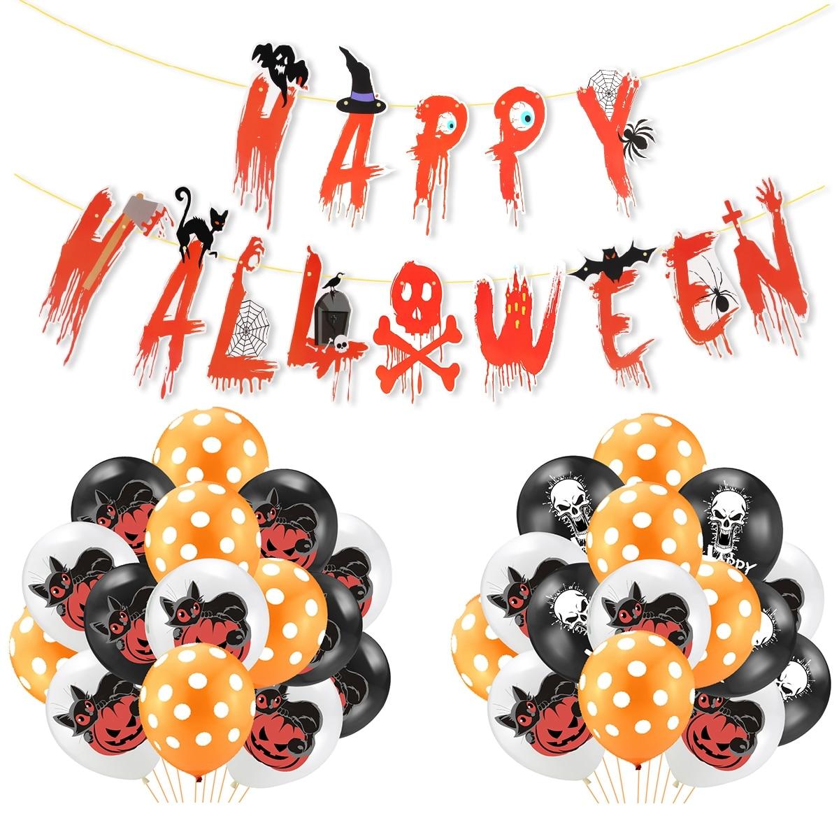 Happy Halloween Decor Set 7