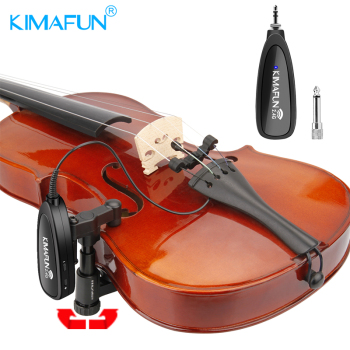 KIMAFUN Wireless violin microphone 2.4G wireless musical instrument system for audio transmission