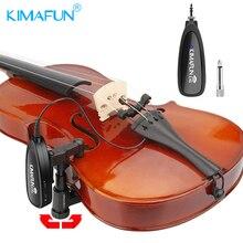 KIMAFUN sans fil violon microphone 2.4G sans fil instrument de musique microphone système pour violon audio transmission