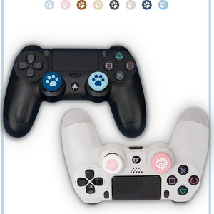Image 2 - New Cat Paw Sakura Thumb Stick Grip Cap Joystick Cover For Sony Playstation Dualshock 4/3 PS4/PS3/Xbox 360/Switch Pro Controller