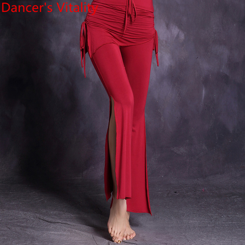 Girls Belly Dance Practice Trousers Lady Belly Dance Waist Trousers Comfortabel Women Belly Dance Superelasticity Pants MLXL