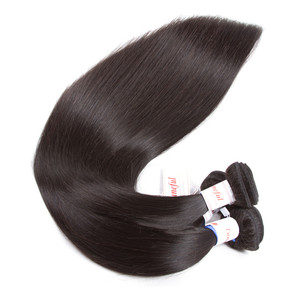 Image 4 - Tuneful reta cabelo humano 3 pacotes com frontal malaio remy cabelo pré arrancado 13x4 fechamento frontal do laço com pacotes