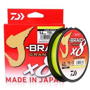 Image 2 - Daiwa Nieuwe Originele J BRAID Grand Vislijn 135M 150M 8 Strengen Gevlochten Pe Lijn Vissen Monofilament 10 60lb Gemaakt in Japan