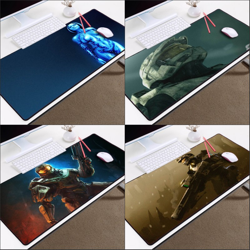 Congsipad Halo Series Size for 400x800x2MM Mousepads The Video Games Halo 5 Master Sergeant Table Mat Pattern Mouse Pad image