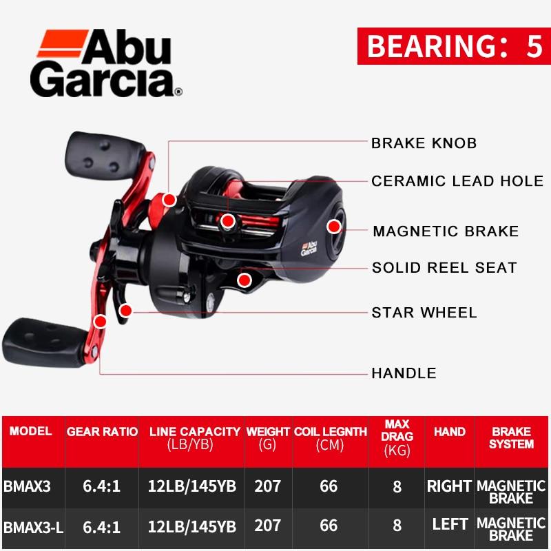 ABU GARCIA Baitcasting Fishing Reels BLACK MAX  2