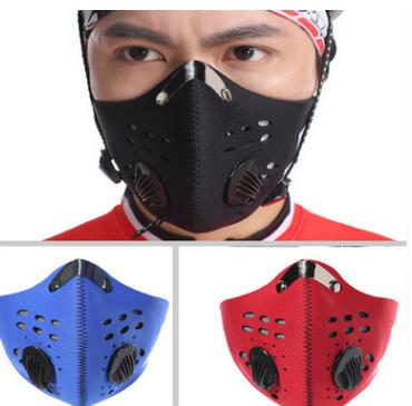 Anti-fog Pm2.5 Breathable Cycling Face Mask Sport Training Anti-Pollution Running Mask With Activated Carbon Filter Hot