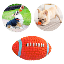 Pet Dog Toy Latex Material Dog Chew Toy Rugby Style Small Medium Large Dog Puppy Toy