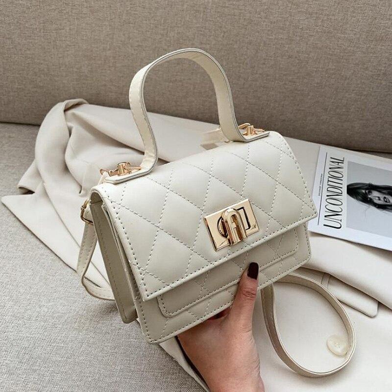 New Plaid Shoulder Bag PU Leather Small Crossbody Bags For Women Flap Designer Female Handbags And Purses