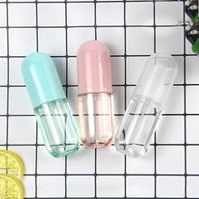 Recipientes recarregáveis vazios da composição da garrafa do pulverizador de água do perfume do mini pequeno do atomizador plástico vazio do curso 60ml