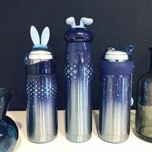Thermos Bottle 350 Ml Coffee Mug Stainless Steel Creative Cute Rabbit Bear Outdoor School Office Travel Mugs