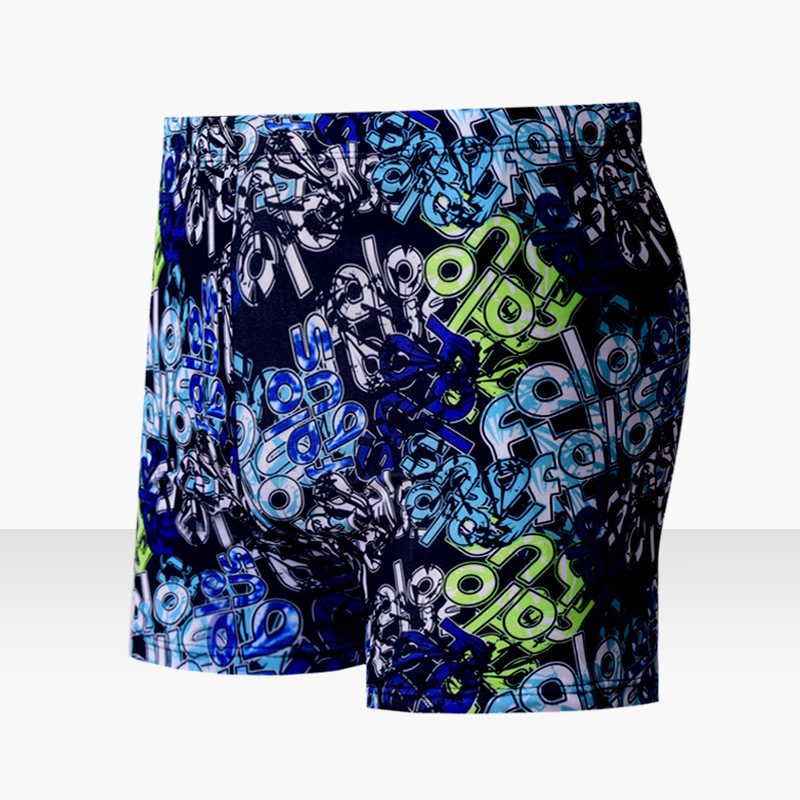 Support One's Swimming Trunks Men's Boxer Fashion Printed Adult Swimming Trunks Beach Shorts MEN'S Swimsuit With Lace-up-
