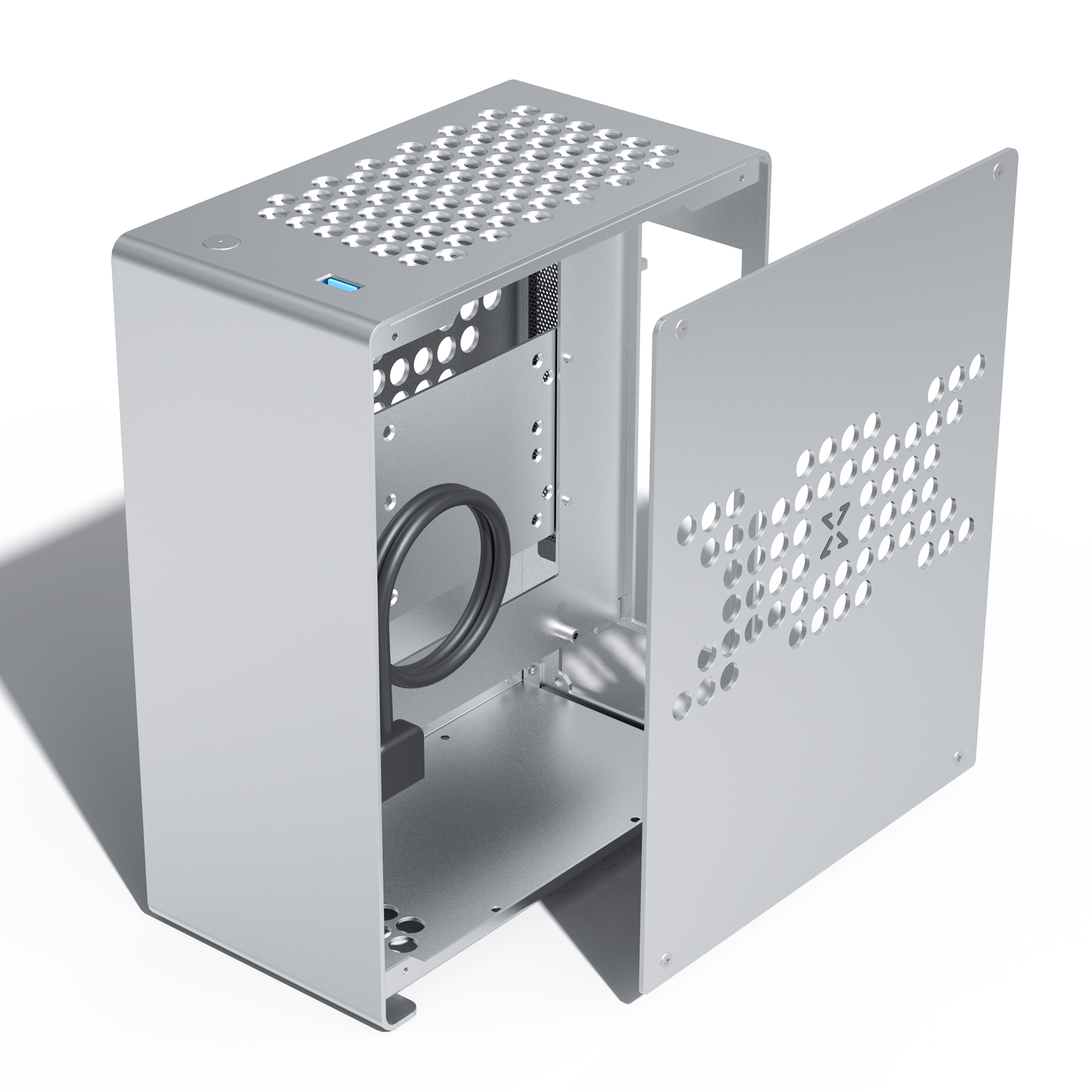 ZZAW A1 ITX Computer Case Aluminum Alloy Mini Small Chassis Air cooled FLEX/1U Power for Gaming and Home Use