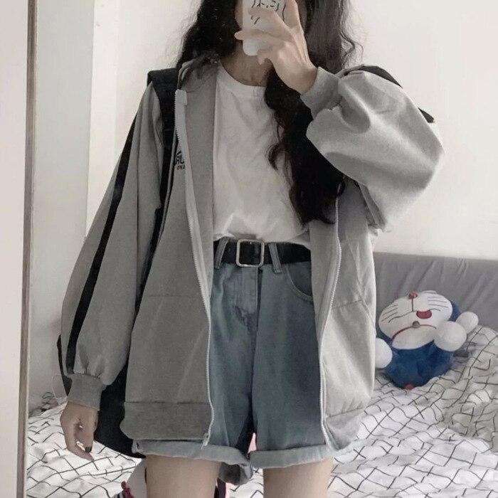 Oversized Hoodies Women Casual Long Sleeve Loose Sweatshirts Female Harajuku Street Boyfriend Style Sweatshirt Fleece Clothes 1