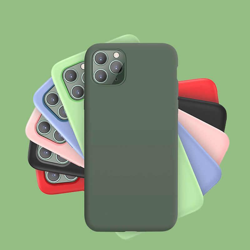 Оригинальный силиконовый чехол для iPhone 7 8 Plus, задняя крышка для Apple iPhone X Xs 11 Pro Max XR 6 6S i7 i8 i6, чехол для телефона