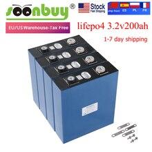 NEW 4PCS Lifepo4 3.2v200ah new lifepo4 rechargeable battery 3.2v200ah battery, suitable for 12v200ah solar US Europe warehouse