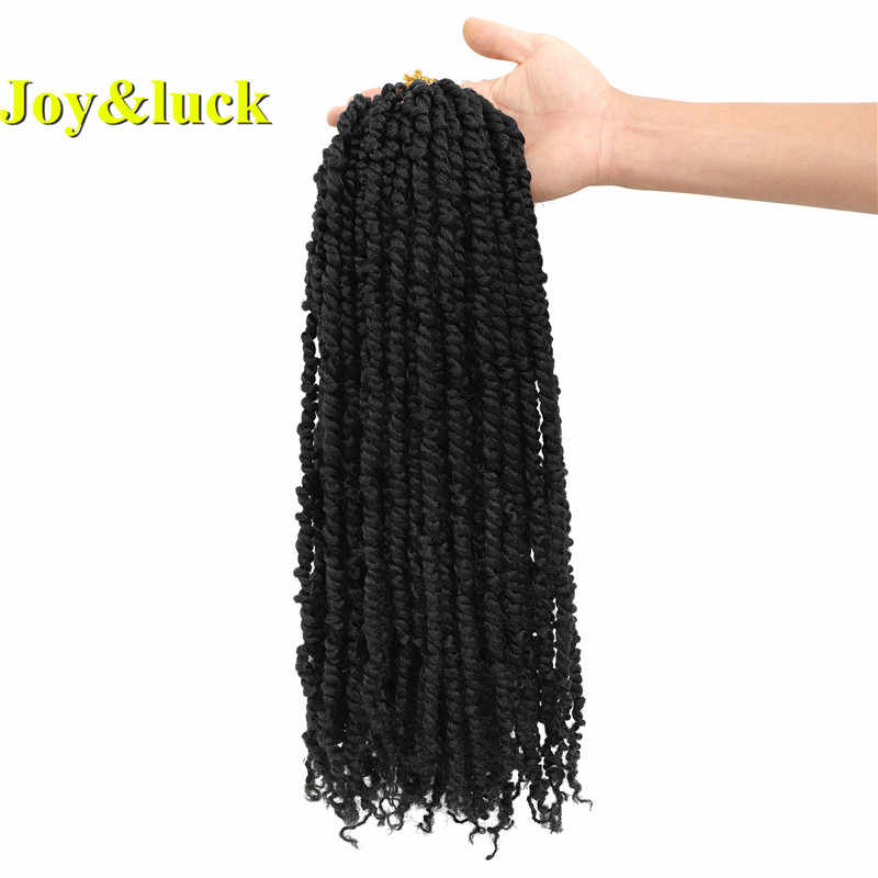 Joy&luck 18inch Long Synthetic Passion Twist Braids Hair Extension for Women Crochet Braiding Hair