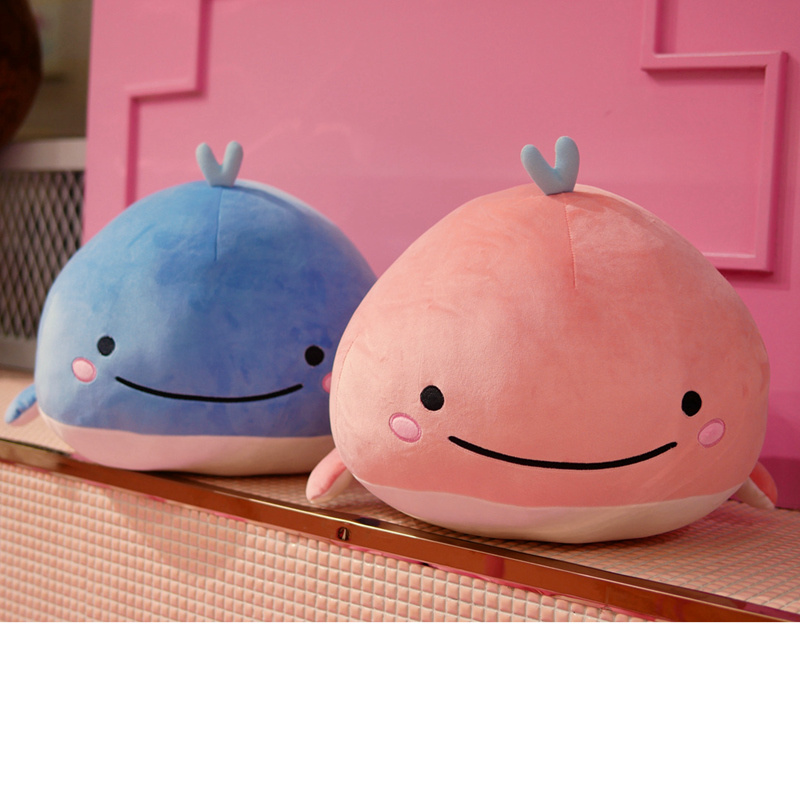 Whale Plush Soft Toy Stuffed Ultra Soft Elastic Plushie Aquatic Animals Doll Kids Ocean Plush Toy Blue Pink 15/25/40cm Boy Toys