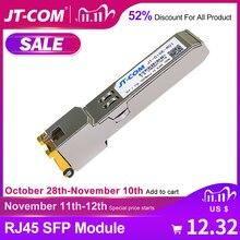 Бесплатная доставка! Гигабитный SFP модуль RJ45 Разъем 1000 Мбит / с SFP mini gbic Медный RJ45 SFP модуль Оптоволоконный приемопередатчик RJ45 порт Совместим с оптоволоконным коммутатором Cisco / Mikrotik / TP Link Gig