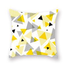 45x45cm Yellow Geometric Pillowcase Throw Cushion Pillow Cover Printing Case Bedroom Office Gift