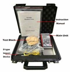 YHT200 Leeb twardościomierz powłoka aluminiowa ręczny przyrząd do testowania twardości Durometer 600 grup pamięci danych